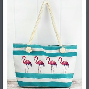 Handbags - NWT XL Flamingo Tote Bag!!